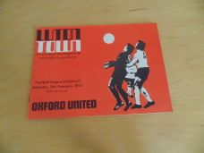 Luton Town v Oxford United, 1971/72